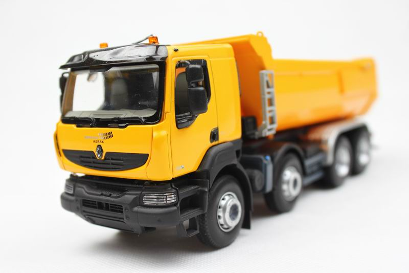 Norev 1:43 Renault Kerax Yellow dump truck alloy car model unpackaged bulk packages(China (Mainland))