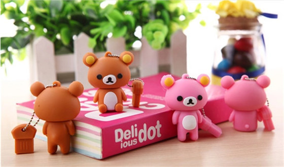 Best qualitylovely bear USB Flash 2.0 Memory Drive Stick Pen/Thumb/Car usb flash drive pen drive usb stick colorful s95(China (Mainland))