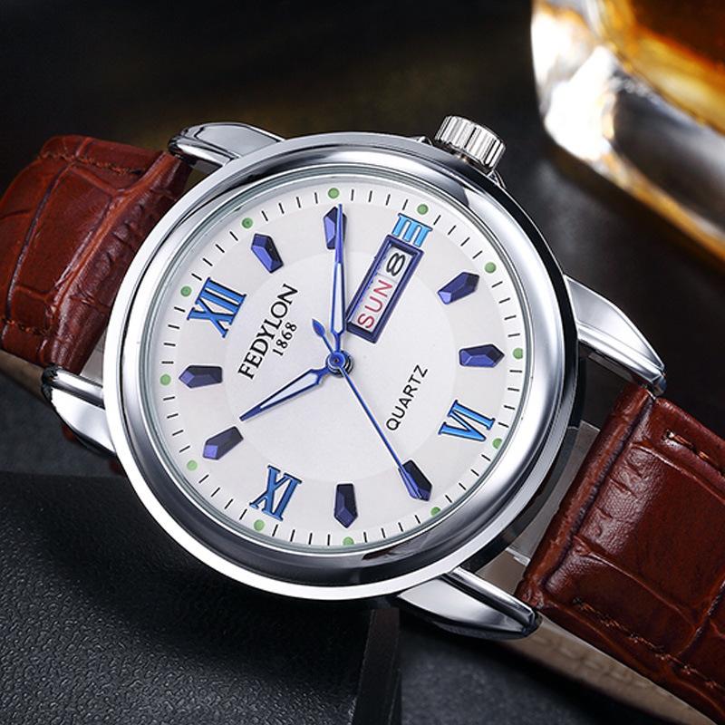 Luxury Brand Leather Watches Men Waterproof Fashion Casual Sports Quartz Watch Business Wrist Watch Hour Relogio Masculino