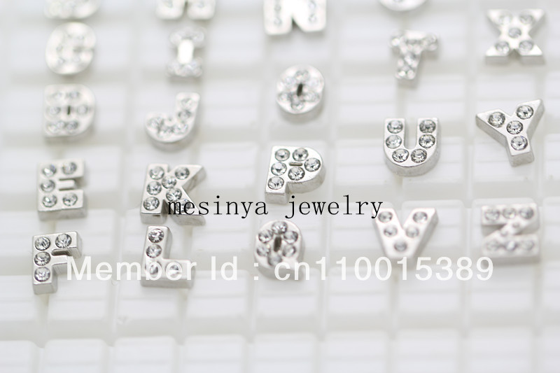 floating charms CRYSTAL initials A B C D E F G H I J K L M N O P Q R S T U V W X Y Z no glass memory living locket Xmas gift<br><br>Aliexpress