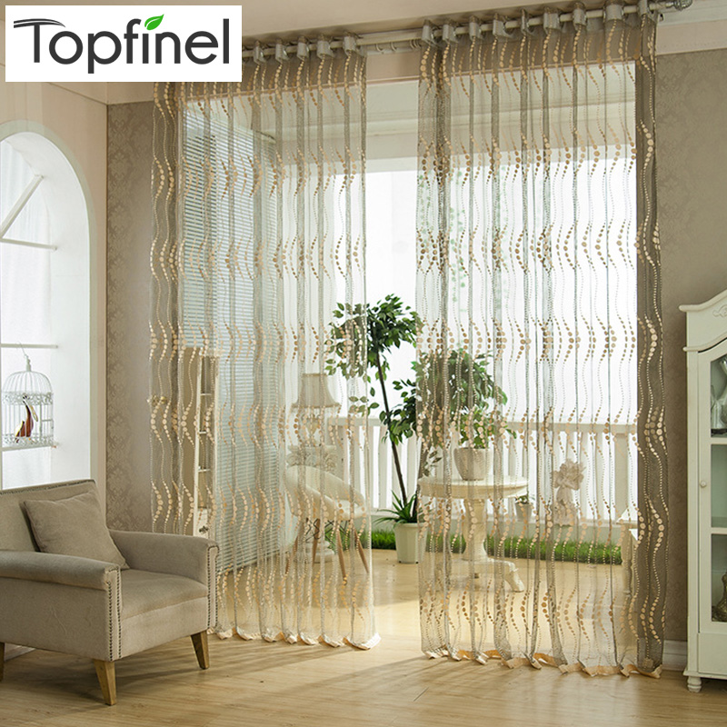 Best Kitchen Curtains: Top Finel Fashion Modern Window Tulle Curtains For Living