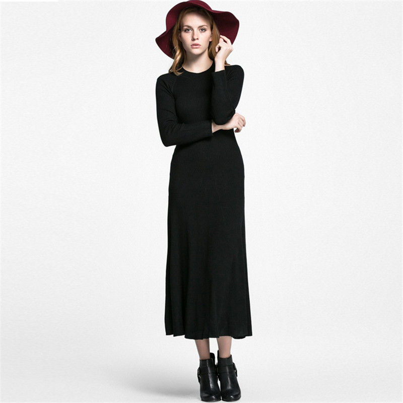 Sweater dress,women spring clothing big swing knit hollow out Maxi dress vestidos female warm comfortable casual dress TT598Одежда и ак�е��уары<br><br><br>Aliexpress