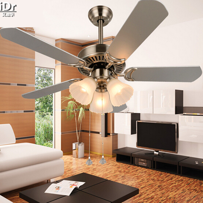 modern minimalist living room ceiling fan light fan lights restaurant with a 42 inch rope. Black Bedroom Furniture Sets. Home Design Ideas