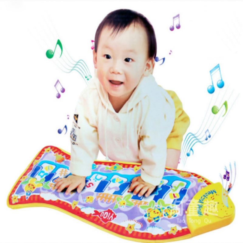 New Baby Toy Piano Mat Child Touch Kick Play Fun Learning Education Toy Baby Rattle Fish Animal Musical Mat Free ShippingHT3136(China (Mainland))