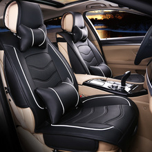 Free shipping Luxury Leather car Seat Cover universal Black Beige Gray sport car seat covers Whole Surrounded Car Seat cushion(China (Mainland))