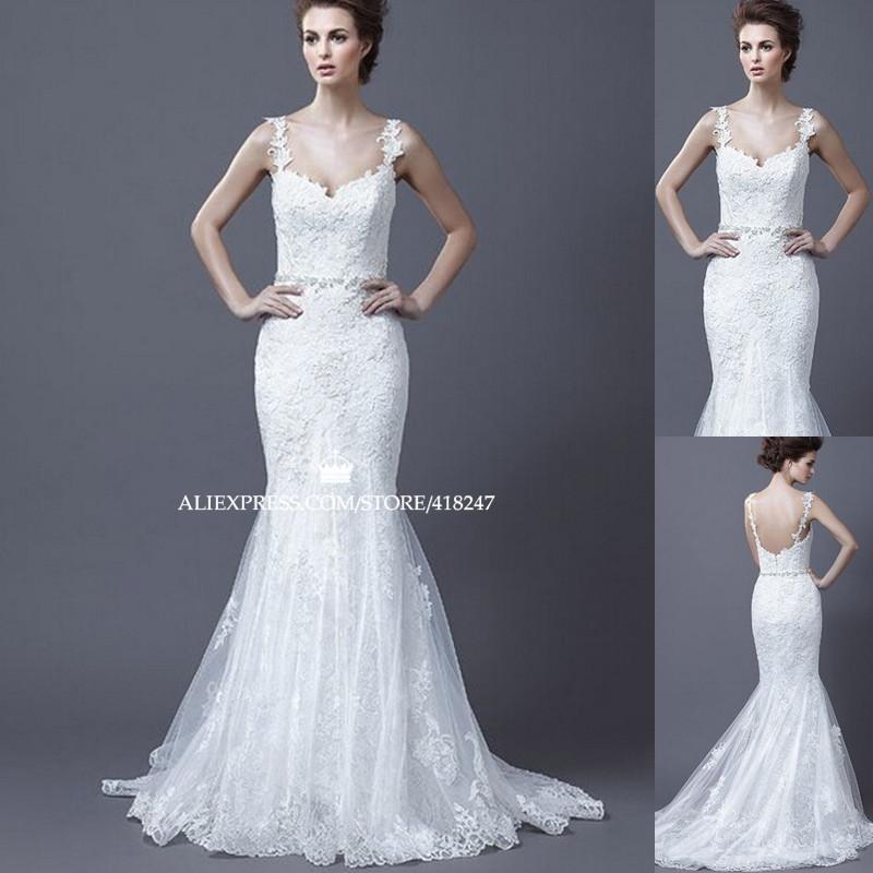 2015 new free shipping mermaid lace wedding dress for Trumpet skirt wedding dress