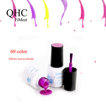 QHC FiMeet 1Pcs Nail Gel Polish Gel Long-lasting Shining Colorful Soak-off Gel Nail LED UV 6ml Hot Nail Gel 60 Colors Choose(China (Mainland))