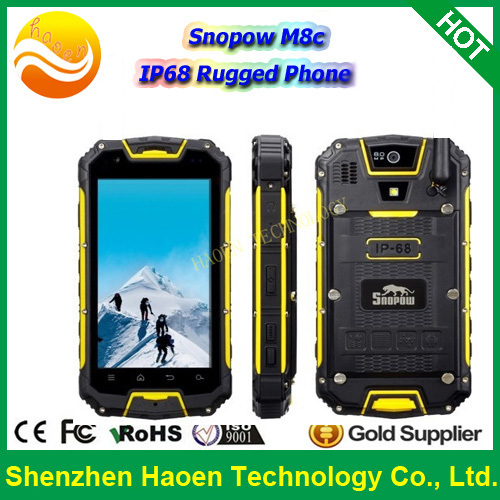 Factory Cheap Price Snopow M8C Rugged Android Phone IP68 Waterproof Dustproof Outdoor Verizon Phone With 3G Celular Dual Sim GPS(China (Mainland))