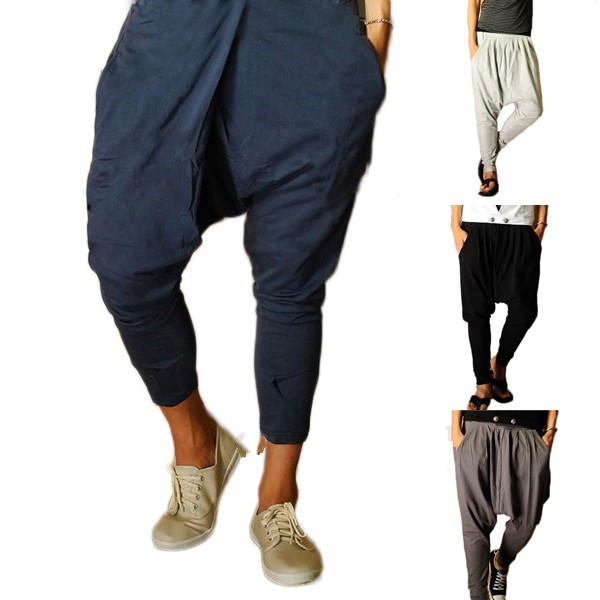 Store Pickup & Delivery. edit Tell us where you are located and we can tell you what's available: Please input a valid zipcode. (20) Free Shipping (76) Shipping (20) Zxzy Male Harem Pants Casual Loose Low Drop Crotch Mens Elastic Waist Pants Mid-Waist Trousers. Sold by Nlife. $