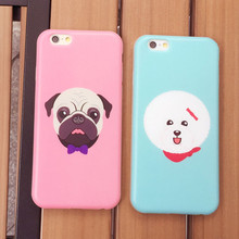New House Pet Pugs Bichon Dogs Protector Phone Case for iPhone 6 6s Phone Back Skin Cover Cases 4.7(China (Mainland))