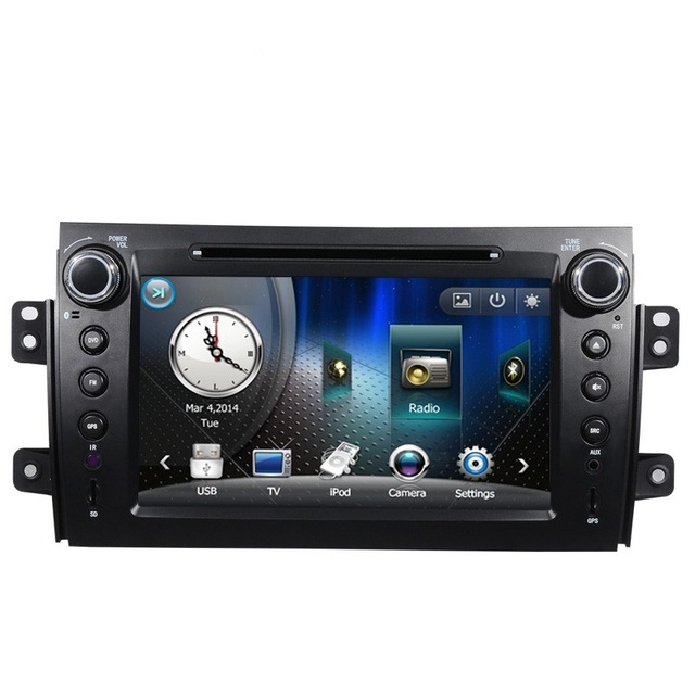 Two Din 7 Inch Car DVD Player For SUZUKI SX4 Fiat Sedici 2006 2007 2008 2009 2010 2011 2012 2013 GPS Navigation Radio TV RDS USB(China (Mainland))