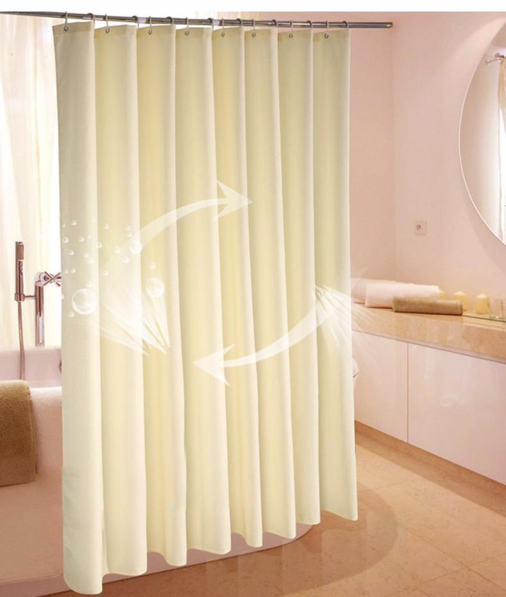 180*180cm High Quality Modern Waterproof Mildewproof Shower Curtain Solid Color Eco-Friendly Bathroom Curtain(China (Mainland))