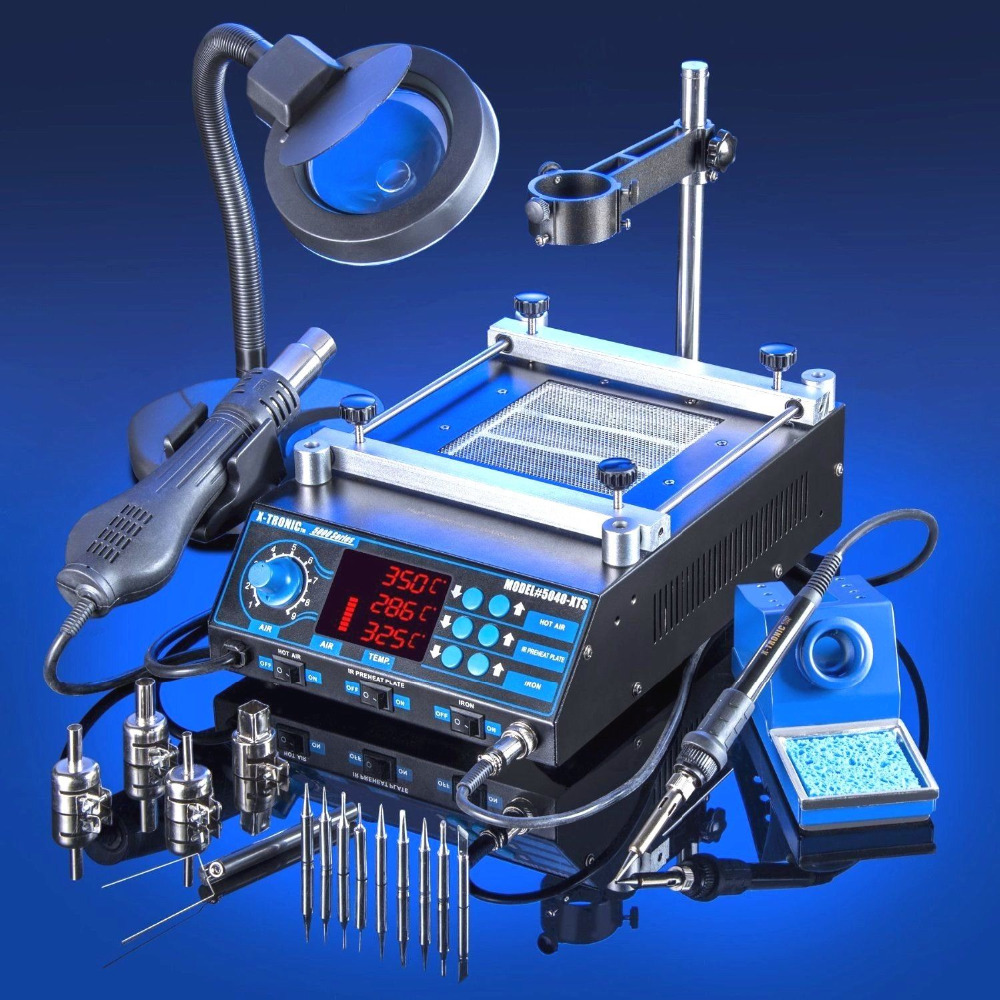 New Arrival 220V EU Plug All In One Adjustable Temperature Soldering Iron Tool Kit Set Rework Repair Welding Solder Station(China (Mainland))