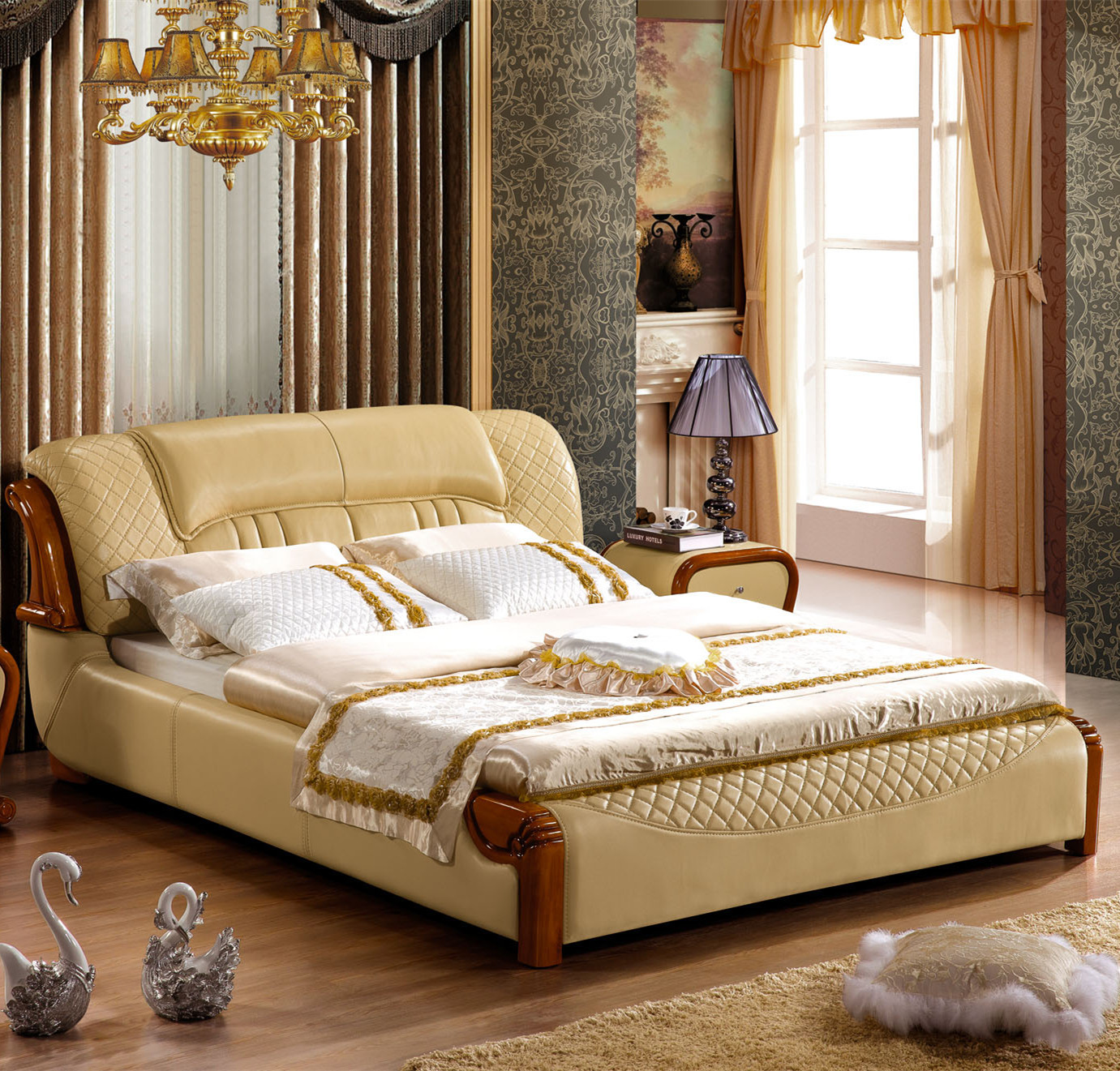 Bed continental bed bedroom furniture soft bed wholesale custom 211 imported leather bed factory for Continental furniture company bedroom