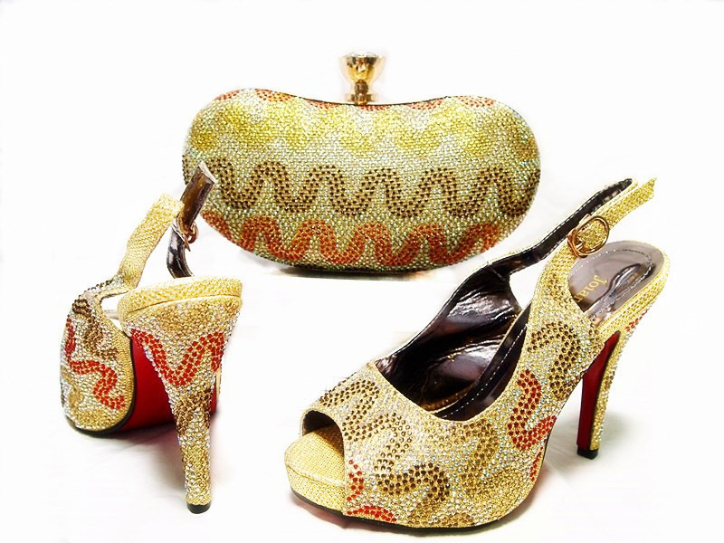 2017 New Arrival Free Shipping By DHL Italian Shoes With Matching Bags Set New Designs lady's Shoe And Bag Set For Wedding Dress