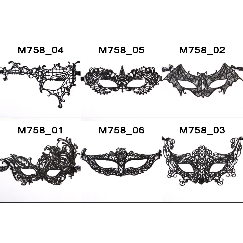 10x Embroidery Black Lace Mask Sexy Lady Cutout Eye Face Mask Masquerade Mysterious Masks For Home Party Fancy Costume Wholesale(China (Mainland))