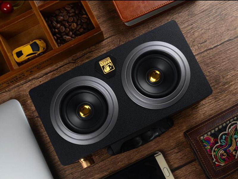 speaker wood USB microphone FM 15