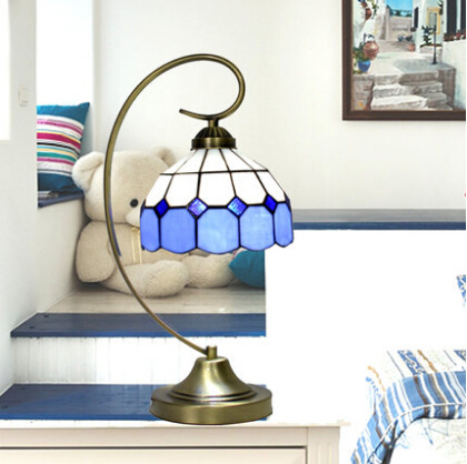 Tiffany lamp desk bedroom table lamp the mediterranean sea for Makeup by tiffany d living room