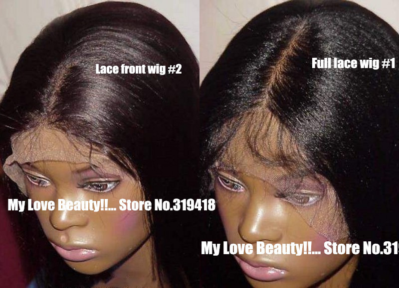 Best Yaki Straight For Black Women Gluless Lace Front Wig/ Full Lace Wig 100% Human Hair Brazilian Remy Wholesale Store !! <br><br>Aliexpress