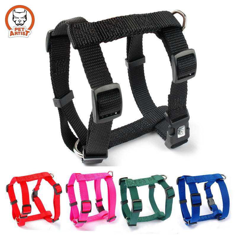 Nylon Adjustable Small Pet Puppy Dog Harness 4 Sizes XS S M L 5 Colors Black Blue Red Green Rose(China (Mainland))