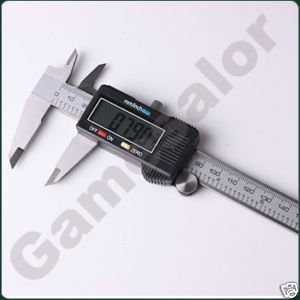 """6"""" 150 mm Digital Vernier Caliper Micrometer Guage Widescreen Electronic Accurately Measuring Stainless Steel Free Shipping"""