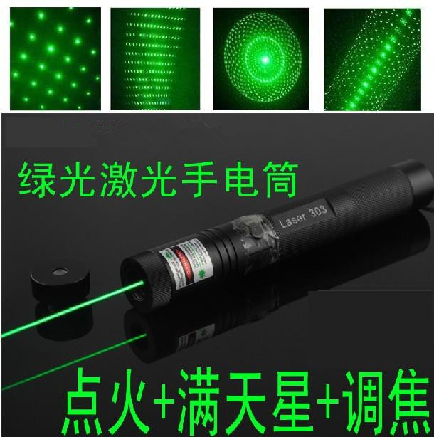 NEW green laser pointer 100000mw 100w 532nm high power focusable can burn match burn cigarettes pop