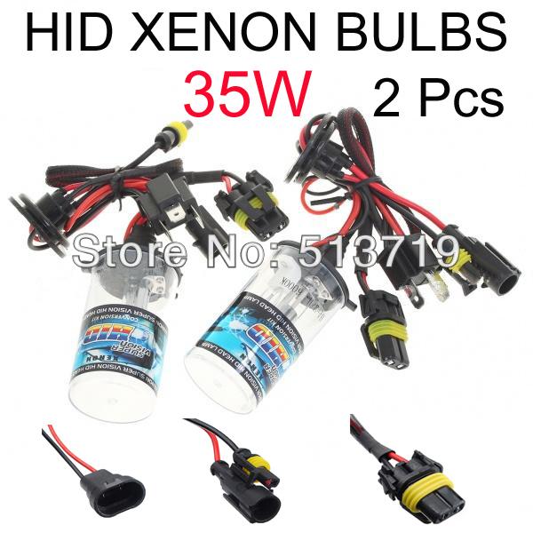 Free Shipping 35w AUTO HID XENON BULBS Xenon Car Lamps Headlights Fog Light 2 Pcs H1 H3 H7 H11 H8 H9 HB3 HB4 9005 9006(China (Mainland))
