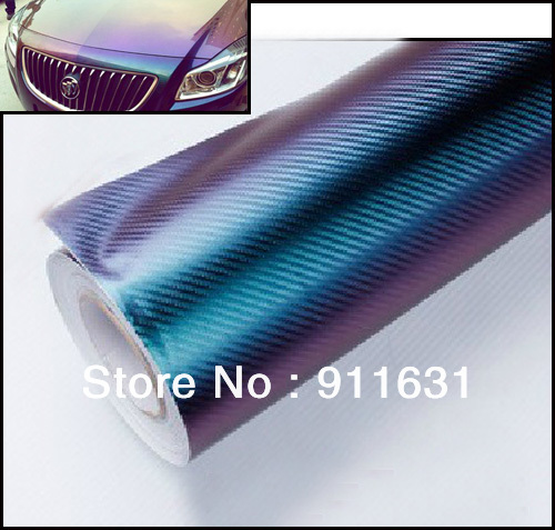 Free Shipping 152*60cm chameleon 3D Carbon Fiber Water Transfer Printing Film 3d chameleon carbon fiber sticker with Air Drains(China (Mainland))