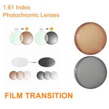 1.61 Index Prescription Photochromic Lenses Transition Glasses Lenses for Myopia/Hyperopia/Presbyopia Transit Grey Brown Lenses(China (Mainland))