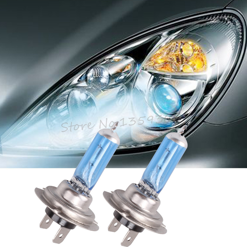 2x H7 5000K Xenon 12V 100W Super Bright White Headlight Fog Halogen Bulb Car Head Light Lamp New