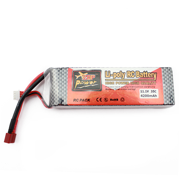 ZOP Power Lipo Battery 11.1V 4200mAh 3S 35C T Plug for RC Helicopter Qudcopter Car Airplane(China (Mainland))