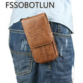 FOR Oukitel U10 Luxury Stone pattern pu Leather Men Waist Bag Clip Belt Pouch Mobile Phone