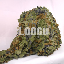 LOOGU E 1.5M*4M Woodland Camo Netting Jungle Net Shelter for Hunting Camping Sports Car Cover Decoration Camouflage Netting