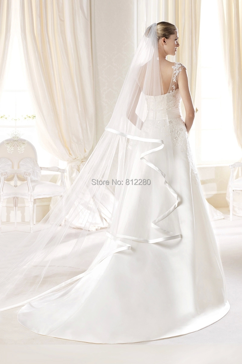 New trendy a line scoop white ivory satin backless wedding for White or ivory wedding dress