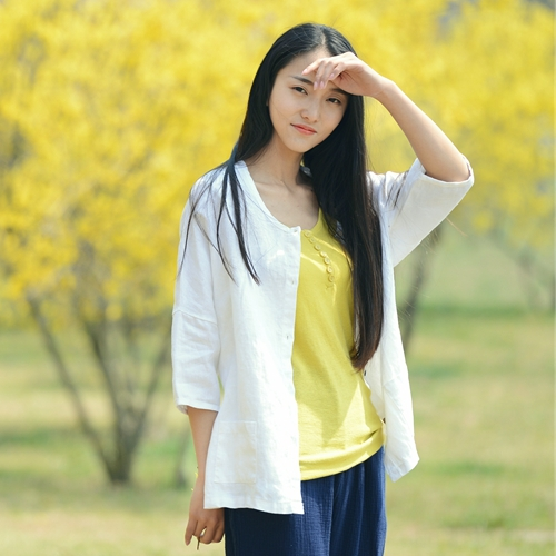 Cotton Summer Summer Linen Cotton Jacket