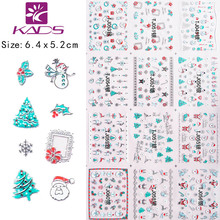 Retail New BLE915 Christmas design Series Tips DIY Decoration hot sales 2015 New nail sticker for nail art product