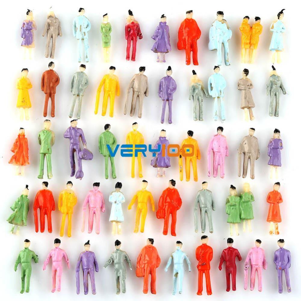 100pcs Painted Model People Figures Train Building Street Scenes Scale N 1:150 FREE Shipping<br><br>Aliexpress