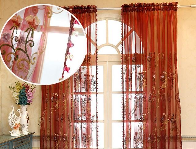 Gordijnen woonkamer slaapkamer voile cortinas sheer for Voile gordijnen