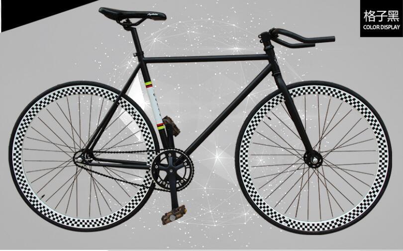 font b Tartan b font black 52cm chrome molybdenum steel frame double V brake bend