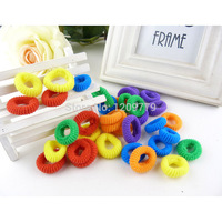 100pcs/lot  Candy Colored Hair Holders High Quality Rubber Bands Hair Elastics Accessories Girl Women Tie Gum  H6581  P