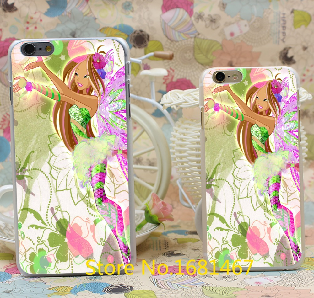 winx club vinks 7 season flora Transparent Hard Style For iPhone 6 6s 6g 6+ 6 plus Clear Cover New arrival(China (Mainland))