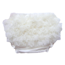 New Baby Ruffle Bloomers Solid Elastic Summer Shorts for Girls Lovely Little Princess Floral PP Lace Diaper Covers Newborn Props(China (Mainland))