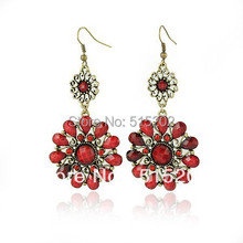 vintage earrings ethnic style flower earrings jewelry for women LM-E012(China (Mainland))