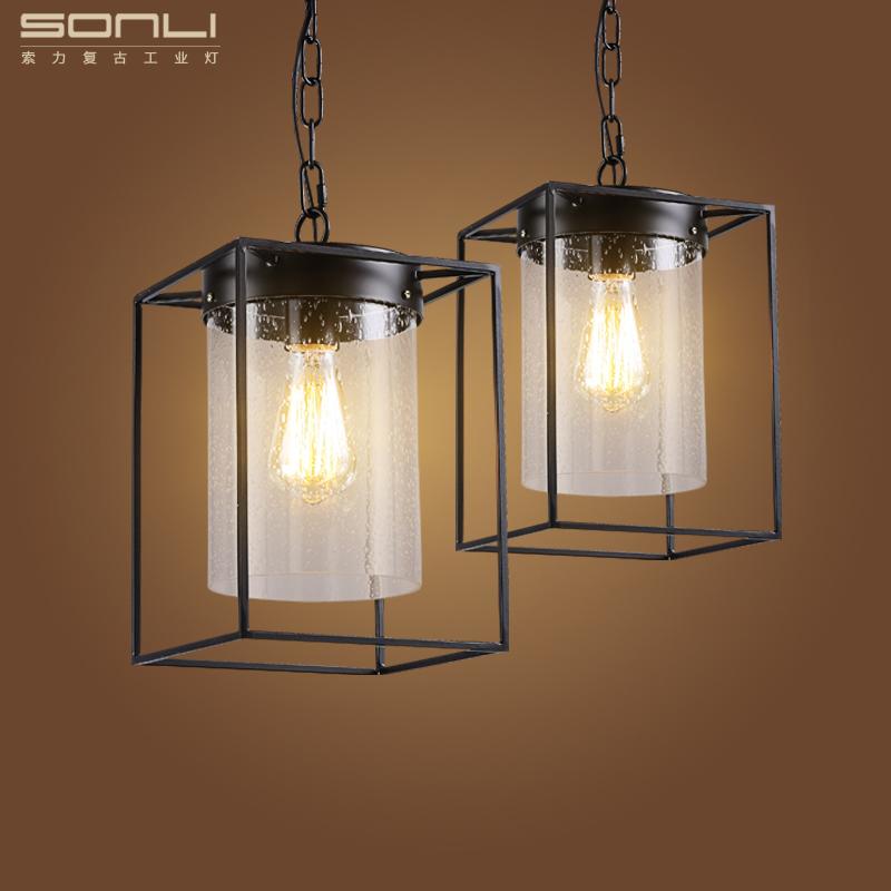 Art Designer Minimalist Industrial Glass Pendant Lamp Loft Wrought Edison Lamp For Bar Kitchen Restaurant(China (Mainland))