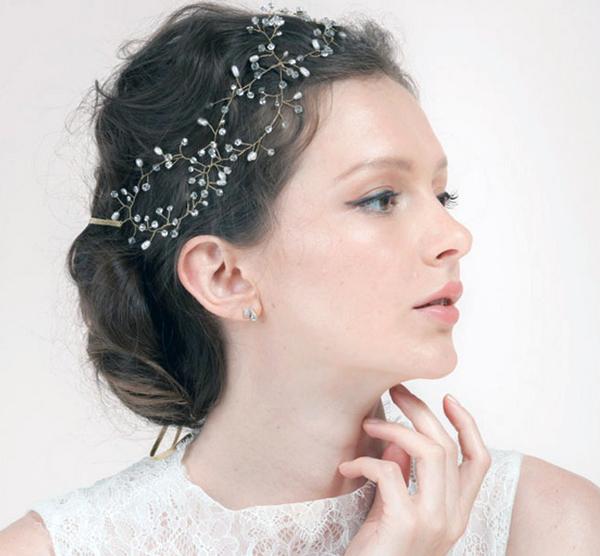 Beautiful! Luxury 100% Handmade Gold Crystal Tiara Bridal Wedding Headband Headpiece Evening Prom Pearl Hair Comb Jewelry HCJ691(China (Mainland))
