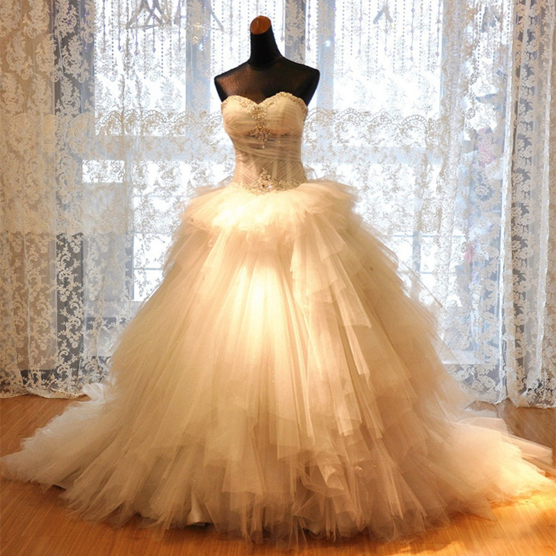 Haute couture 2015 new sweetheart court luxurious big for Modern haute couture