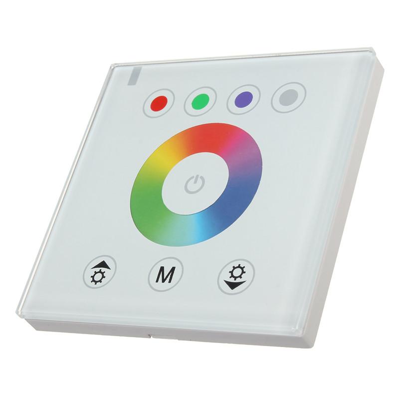 2016 DIY Home Lighting RGB LED Touch Panel Controller Led Dimmer For DC 5V 12-24V LED Strip For Color Temperature Brightness<br>