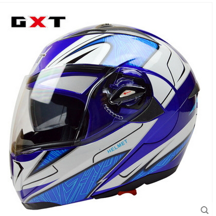 Special offer GXT Cool Motorcycle Helmets Double Lens System Black Cascos Moto Helmet %100ABS Men Full Face Free Shipping(China (Mainland))