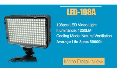 Mcoplus Air-L2 Professional Led Video Light Portable Handheld Lighting with 2x Li-ion batteries for Photography and Videography