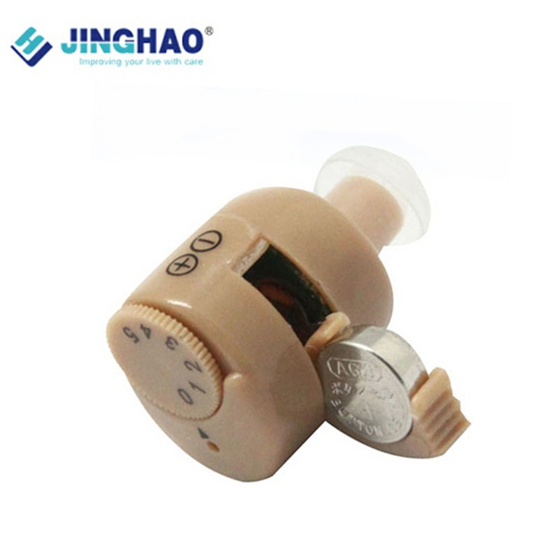 Фотография Mini hearing aid Invisible Hearing In Ear Care Send JH-113 Adjustable Tone Nice Packing Mini ITE Hearing Aid With Clean Tool 900